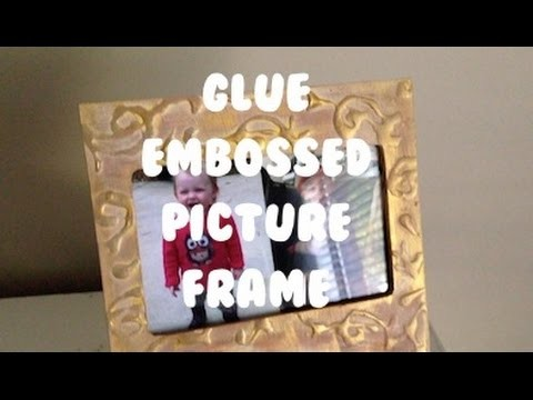 Glue Embossed Picture Frame