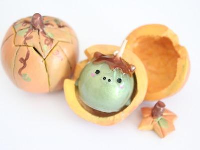 Halloween Tutorial: Oven-bake Clay Pumpkin Container