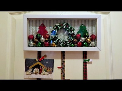 Holiday Shadow Box Christmas Card Holder (DIY Craft)