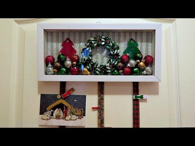 Holiday Shadow Box Christmas Card Holder (DIY Craft)