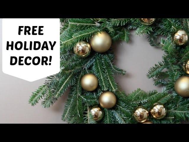 How I get FREE Christmas Decor!!