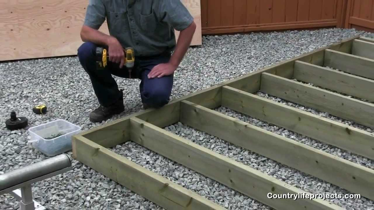 How to Build a Shed - Video 3 of 15 Framing The Shed Floor