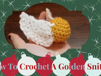 How To Crochet A Golden Snitch | #25DaysOfAwkgingy