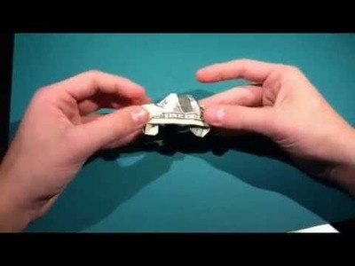 How to fold a dollar origami car designed by SuperFolder1