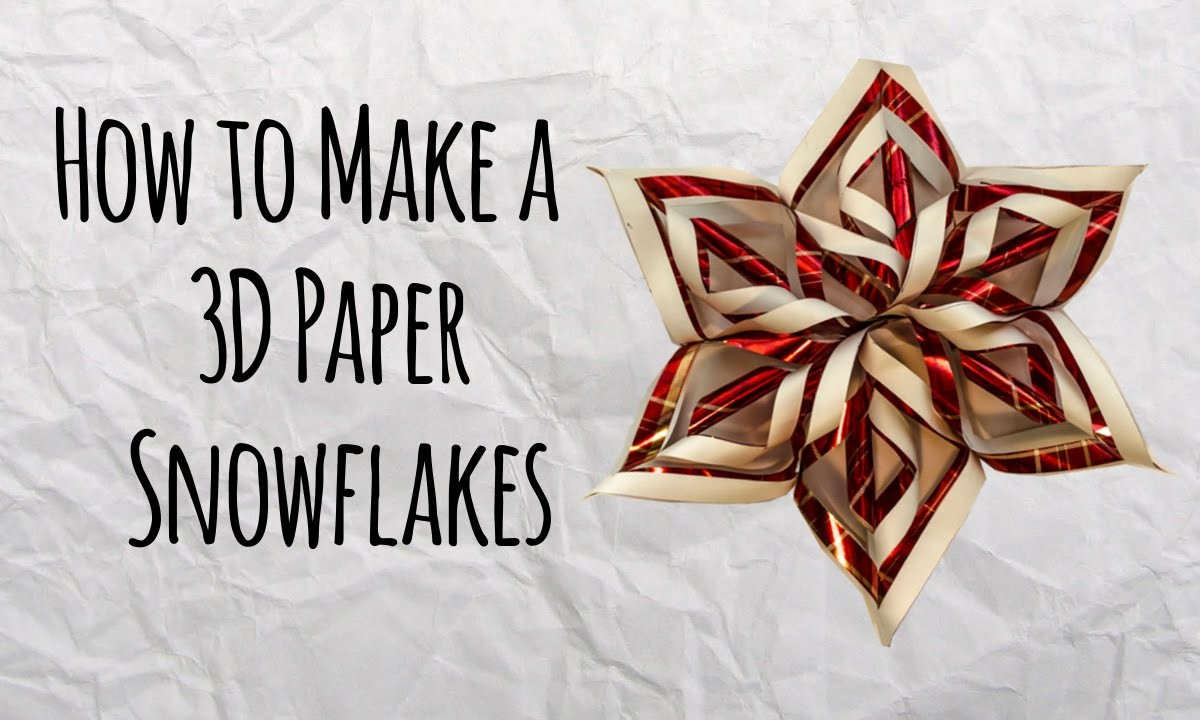 How to Make a 3D Paper Snowflakes - Master of DIY - Creative Ideas For Home HD