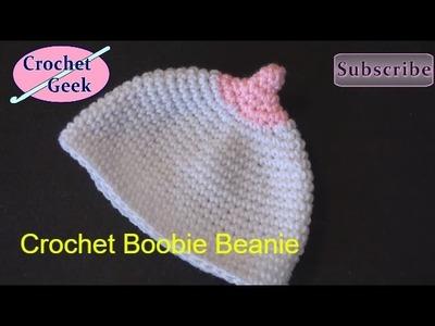 How to make a Crochet Boobie Beanie Cap