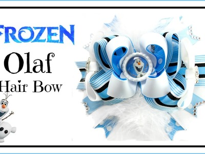 How to Make a Frozen Olaf Hair Bow - Hairbow Supplies, Etc.