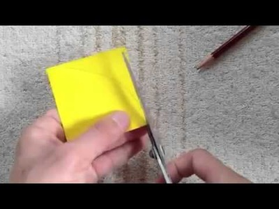 How to make a origami Full moon moon