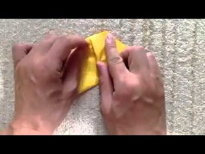 How to make a origami Moon crescent