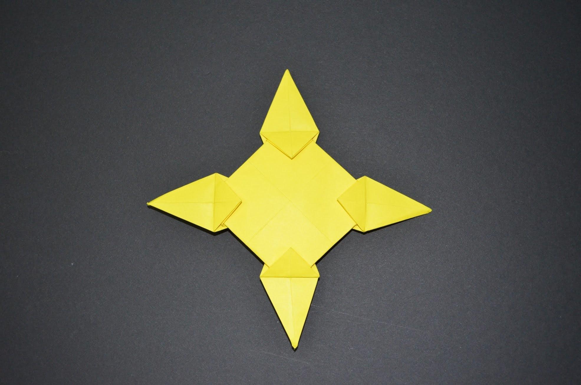 ninja throwing star origami