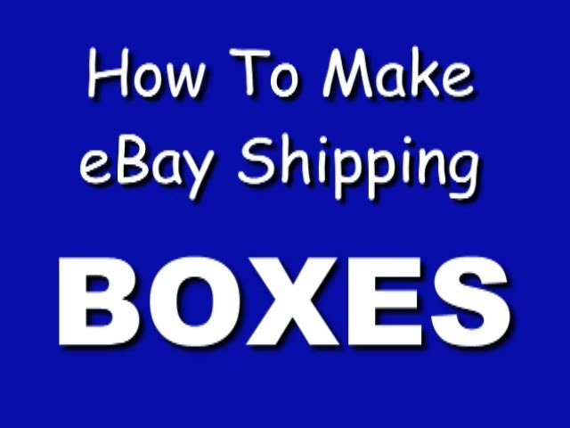 How to Make a Small Strong Box for eBay Shipping, Parts, Jewelry, Fragile Items