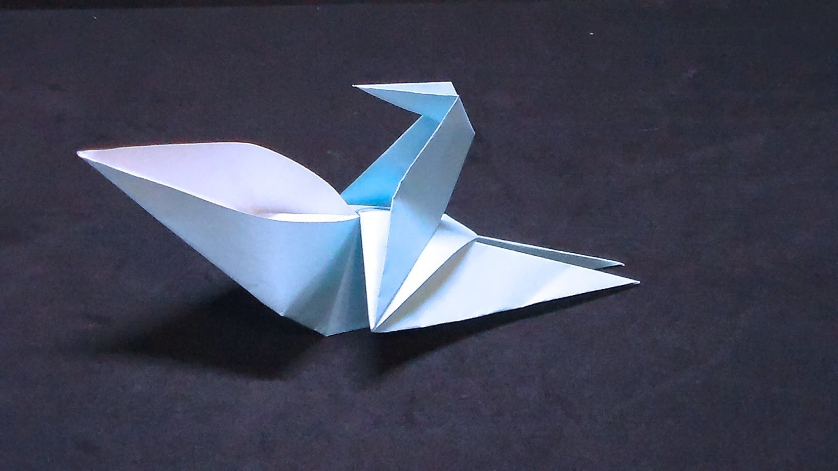How to make an origami drinking bird