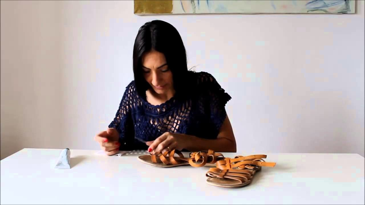 How to make cool DIY Gladiator Sandals in 2 minutes!