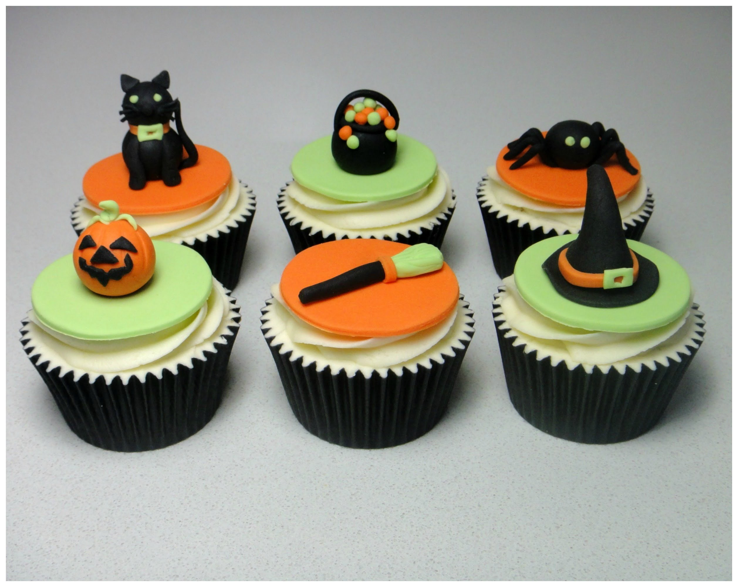 How to Make Halloween Sugarpaste. Fondant  Cupcake Topper Cake Decorating Tutorial