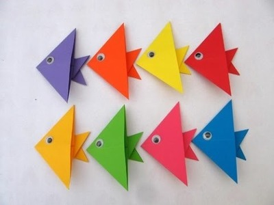 How to make origami fish - easy origami fish tutorial