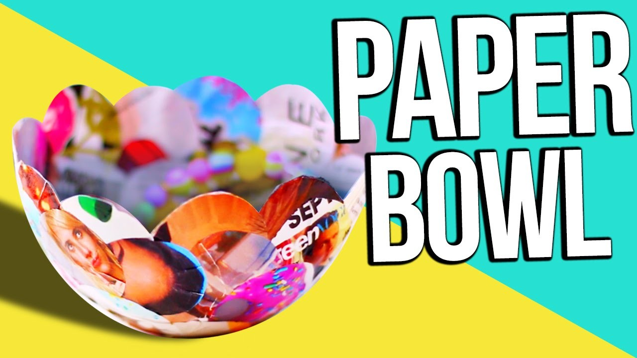HOW TO MAKE PAPER BOWLS ♥ Re-Use OLD Magazines!
