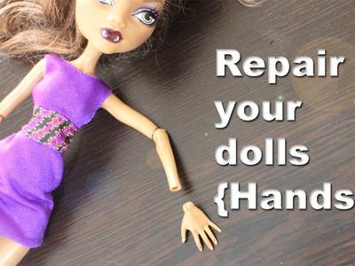 How to repair restore  fix Monster High and Ever After High broken [Hands] articulations.limbs.