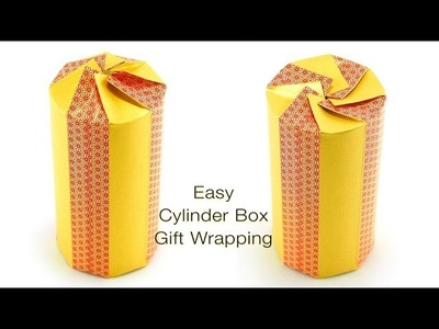 How to Wrap a Cylinder Box Beautifully with a Piece of Tape!