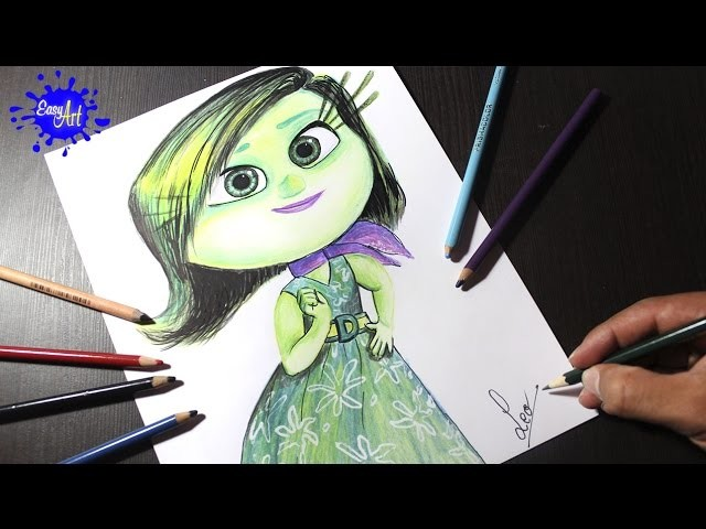 Inside Out l how to draw Disgust l intensa mente l Dibujando