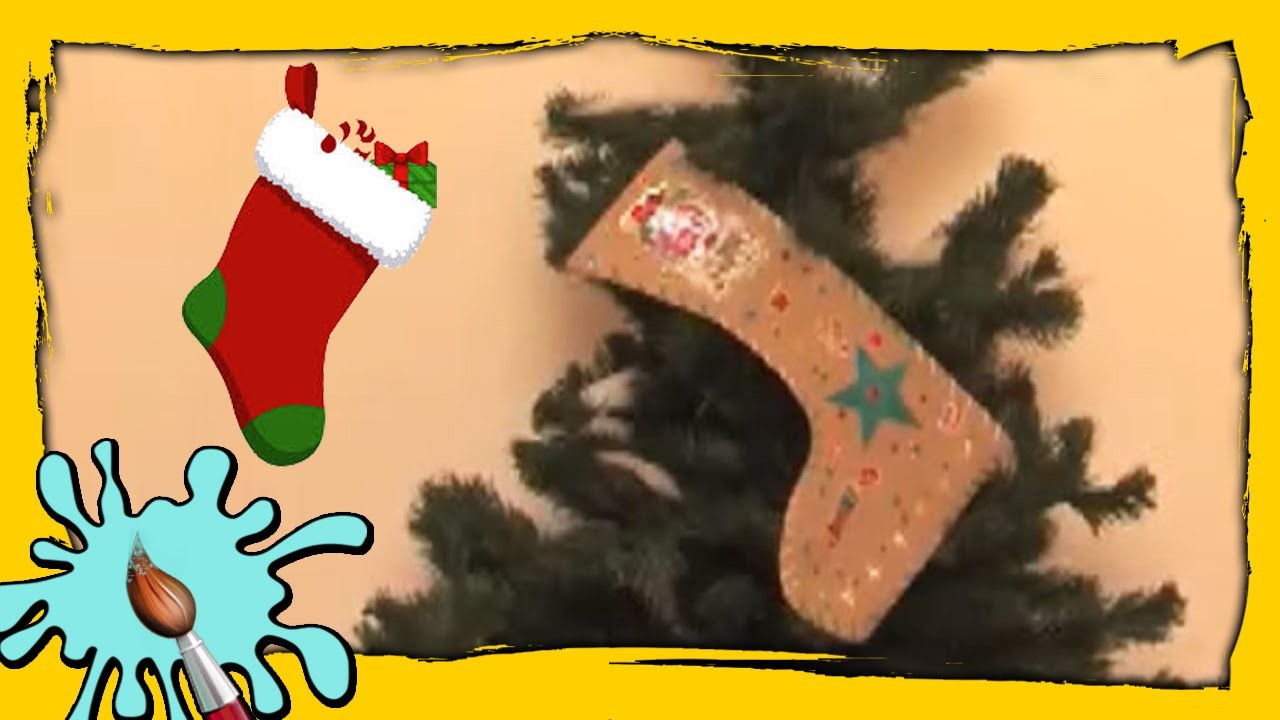 Last Minute Christmas Stocking Idea | DIY Christmas Crafts | Easy Christmas Paper Crafts for Kids