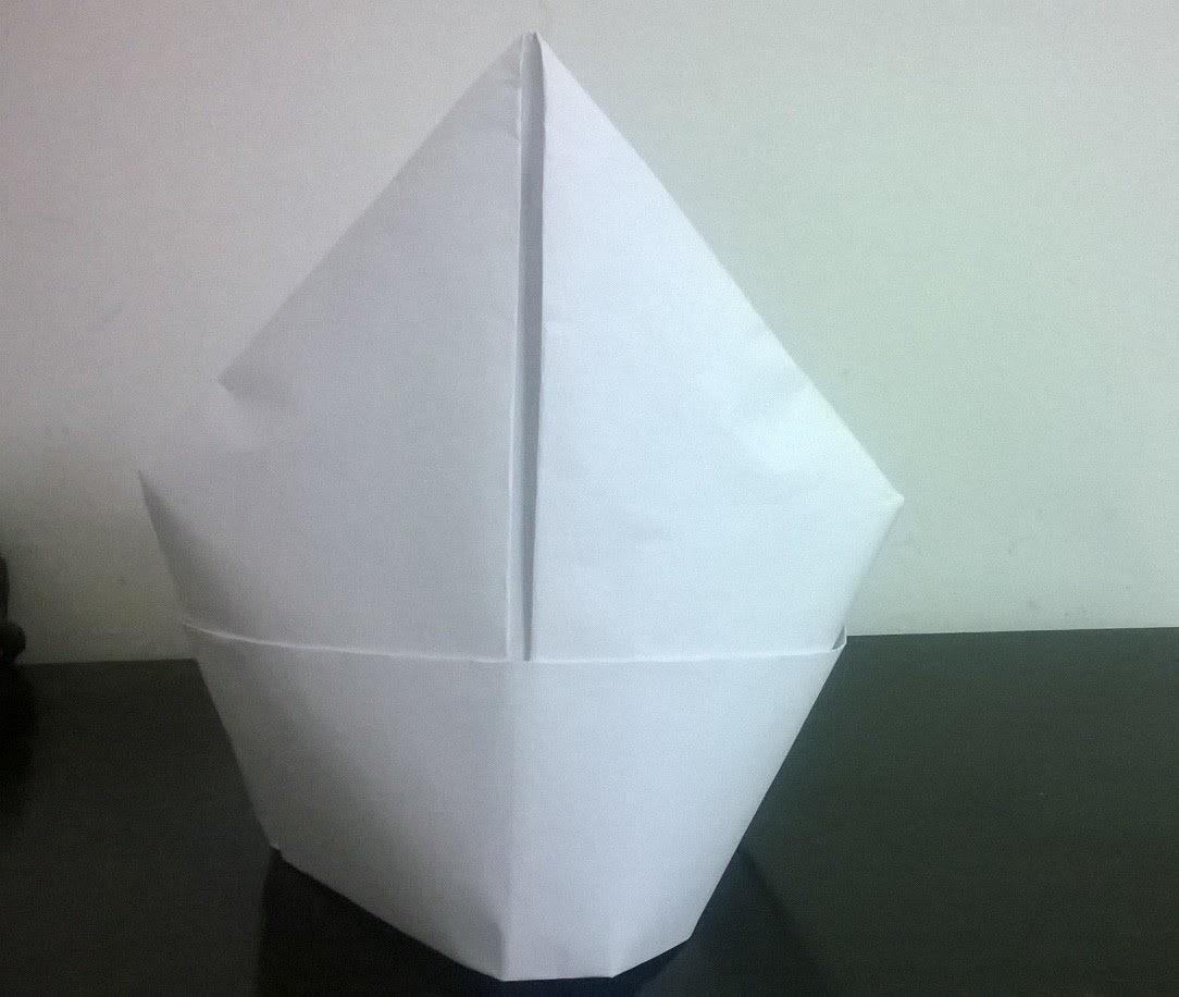 Making different caps (rain cap, mitre cap, Indian cap, square, graduation) : Origami 13