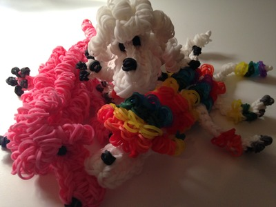 Mini Poodle 3D-Rainbowloom Part 2