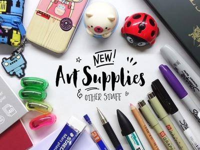 New Art Supplies and Other Stuff! [Art Supplies Haul]