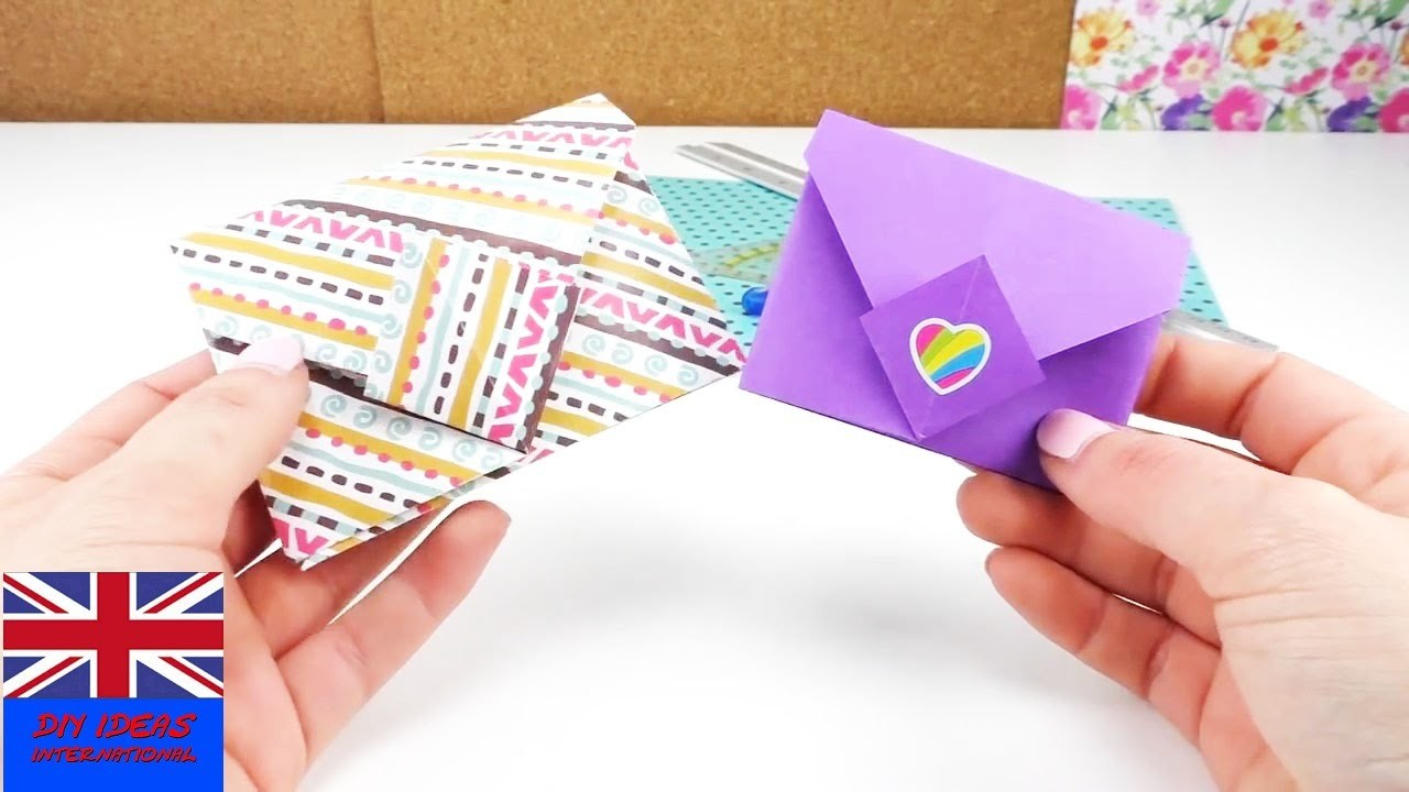 Origami envelope. Tutorial: How to fold an Envelope?