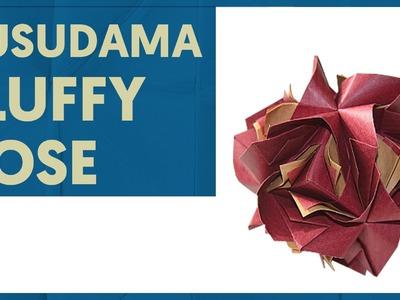 Origami Fluffy Rose (Natalia Romanenko)