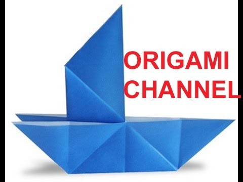 ORIGAMI FOR KIDS BOAT FOLD AN ORIGAMI SAILBOAT EASY