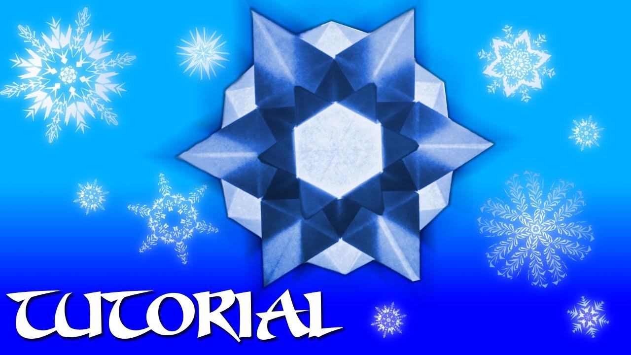 Origami Snowflake. Star Tutorial