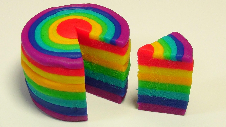 Play Doh Rainbow Cake! How to make a Rainbow Cake! Make a Play Doh Rainbow Cake!