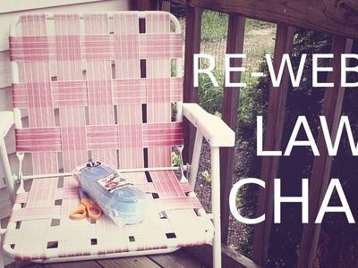 Re-Web a Lawn Chair