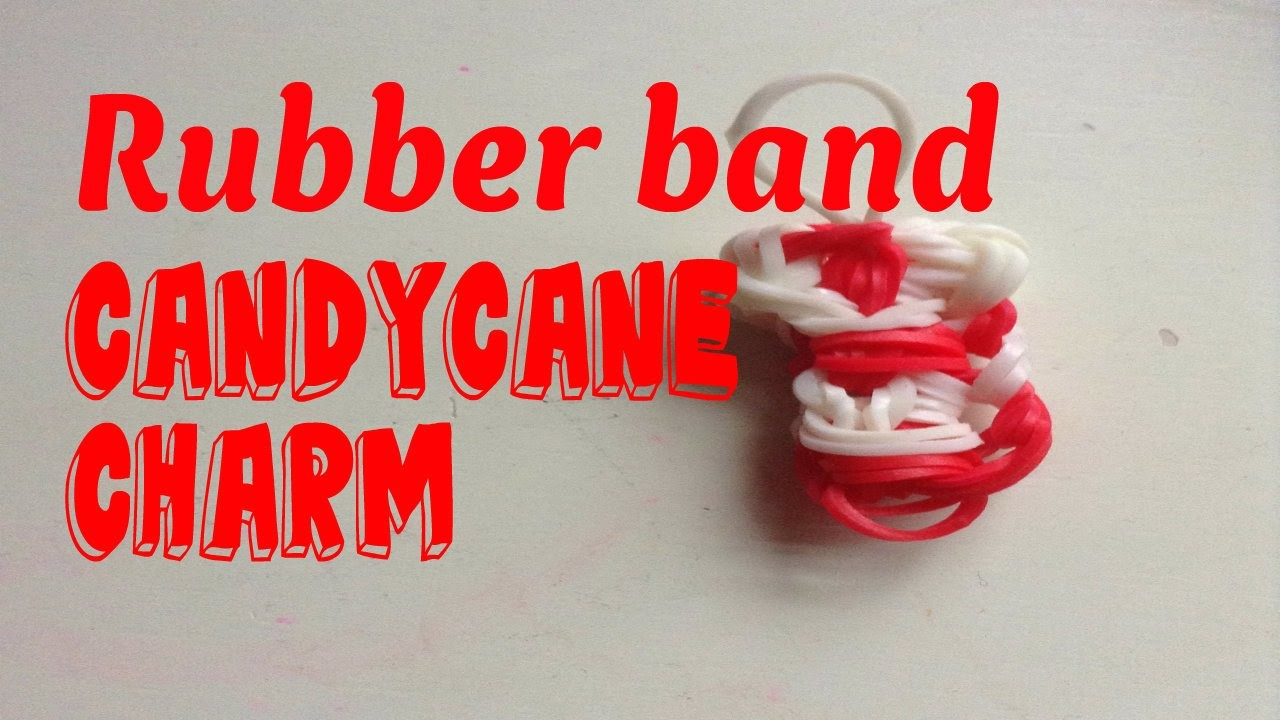Rubber Band Candy Cane charm