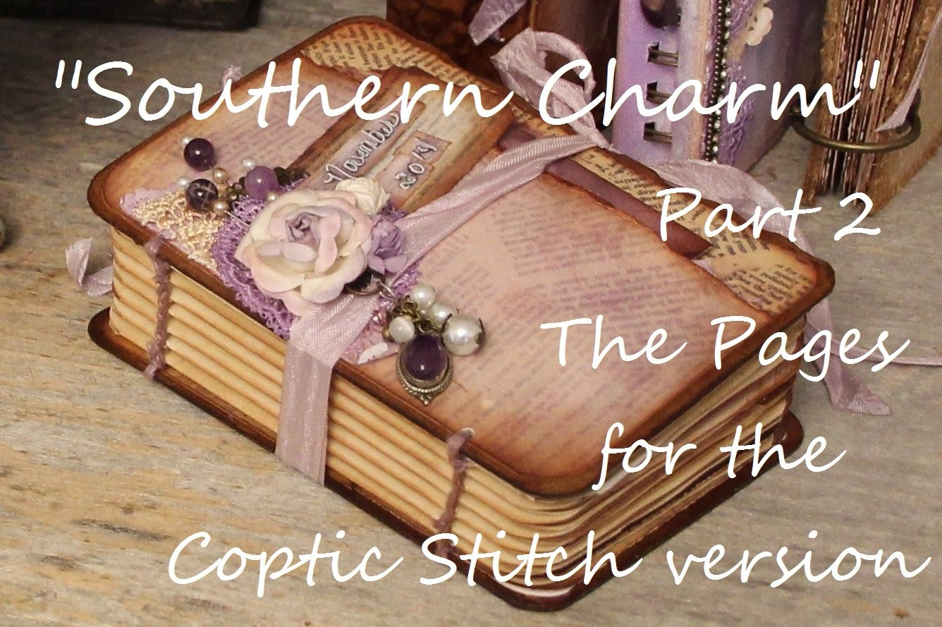 """""""Southern Charm"""" Part 2 """"The Pages"""" Printable Mini Book Coptic Stitch"""