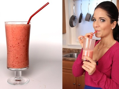 Strawberry Banana Smoothie Recipe - Laura Vitale - Laura in the Kitchen Episode 286