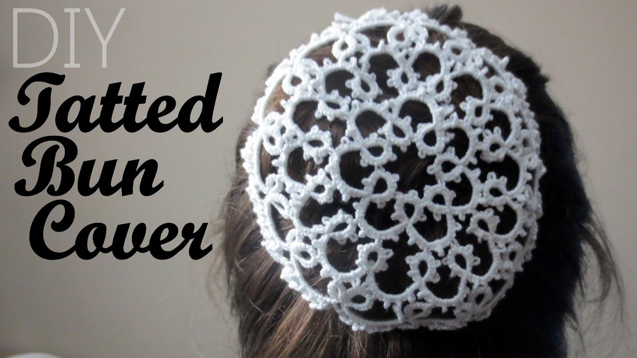 Tatted Bun Cover From a Doily