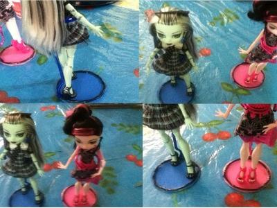 Tutorial como hacer una base o soporte para muñecas. How to make a doll stand Monster High