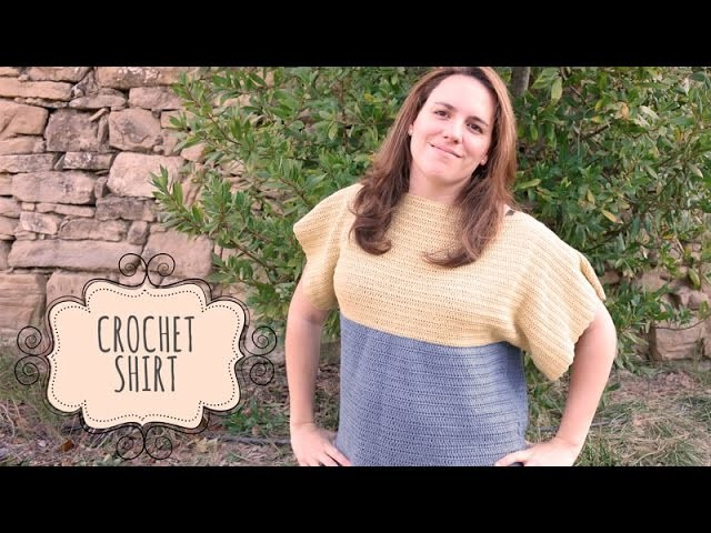 Tutorial Easy Crochet Shirt. Top