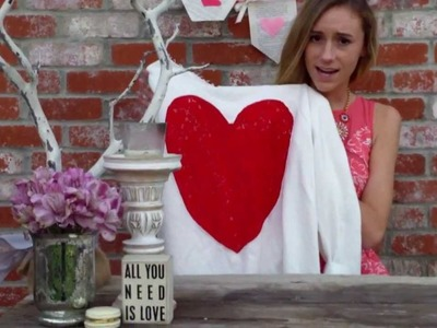 Valentines day: DIY t-shirt and burlap bags