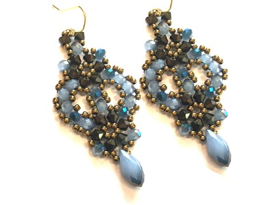 "Video Tutorial - DIY - Beaded Earrings ""Charlotte"""