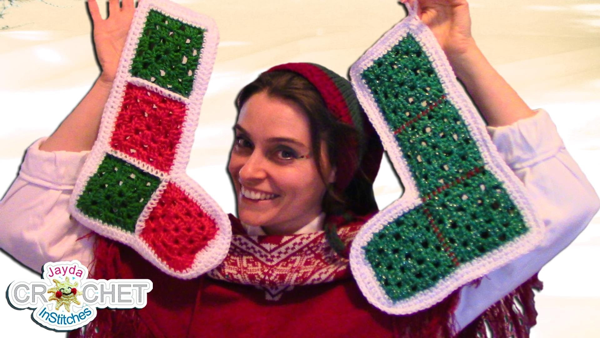 Vintage Granny Square Christmas Stocking