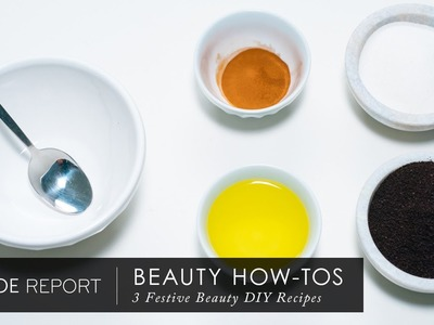 3 Festive Beauty DIY Recipes | The Zoe Report By Rachel Zoe