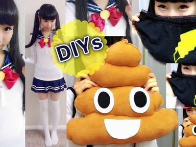 3 Funny DIYs: DIY Pokemon Tail Panties+DIY Poop Emoji Pillow+DIY Detachable Sailor Collar.Sweater