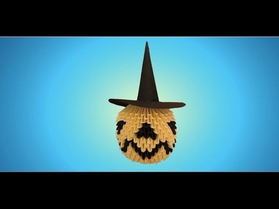 3D Origami Halloween Pumpkin Tutorial