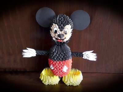 3D origami Mickey Mouse tutorial