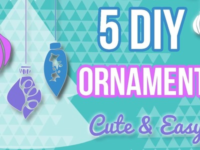5 DIY Ornaments for Christmas! & HOLIDAY GIVEAWAY!!!
