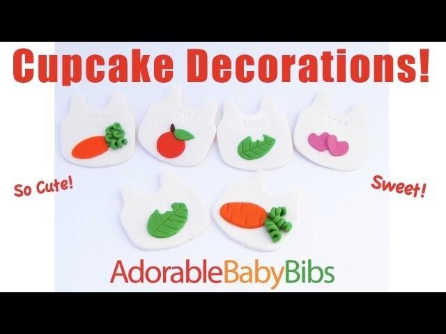 Baby Bib Cupcake Decorations!