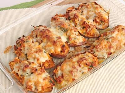 Chorizo Stuffed Sweet Potatoes Recipe - Laura Vitale - Laura in the Kitchen Episode 983