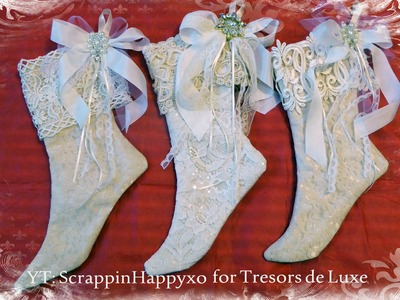 Christmas Stockings + Tutorial with Tresors de Luxe